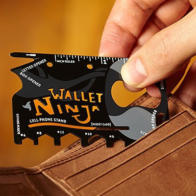 WALLET NINJA 18-IN-1 CREDIT CARD SIZED MULTI-TOOL - R195 from Mantality (South Africa)